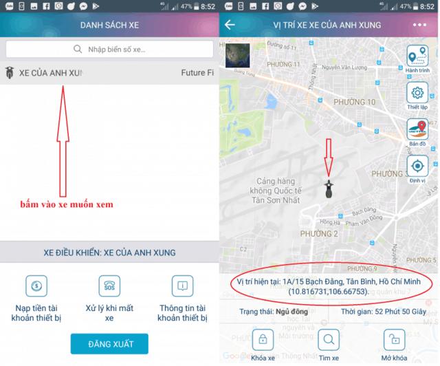 sử dụng app smart motor 3.0