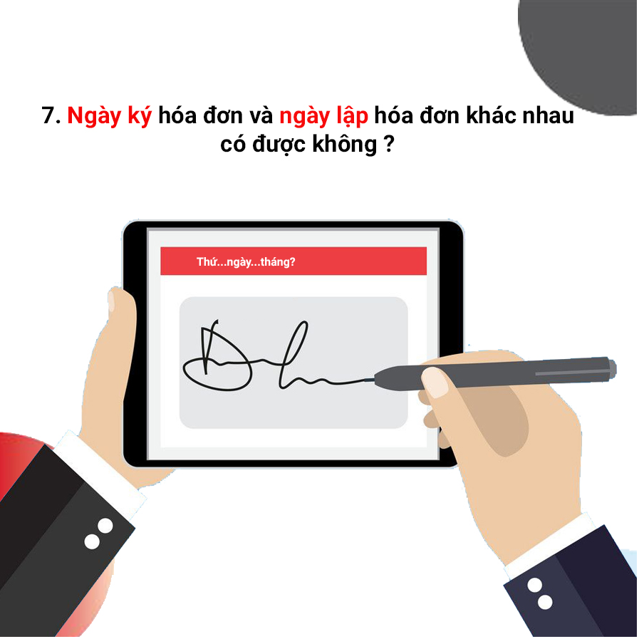 ngày xuất và ký hóa đơn điện tử