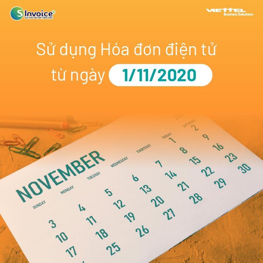 sử dụng hóa đơn điện từ 1/11/2020
