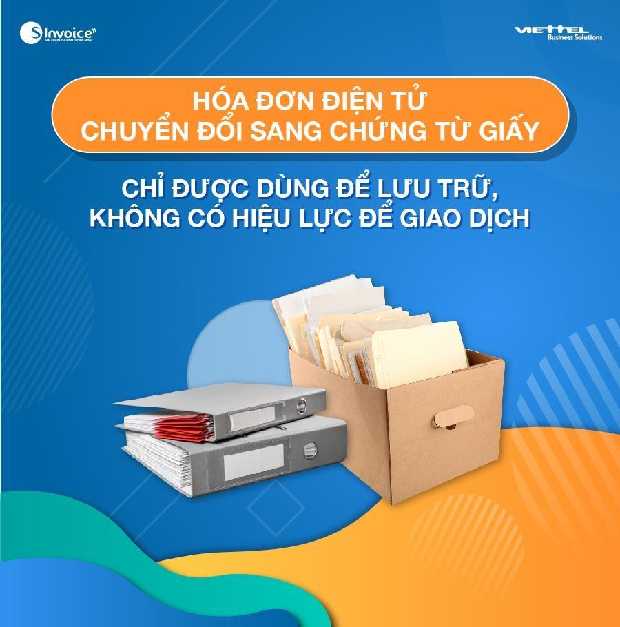 hóa đơn điện tử chuyển đổi bằng chứng từ giấy