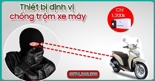 thiết bị chống trộm xe máy viettel
