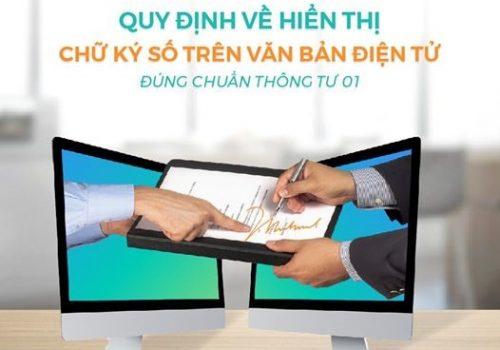 quy định về hiện thị chữ ký số trên văn bản điện tử